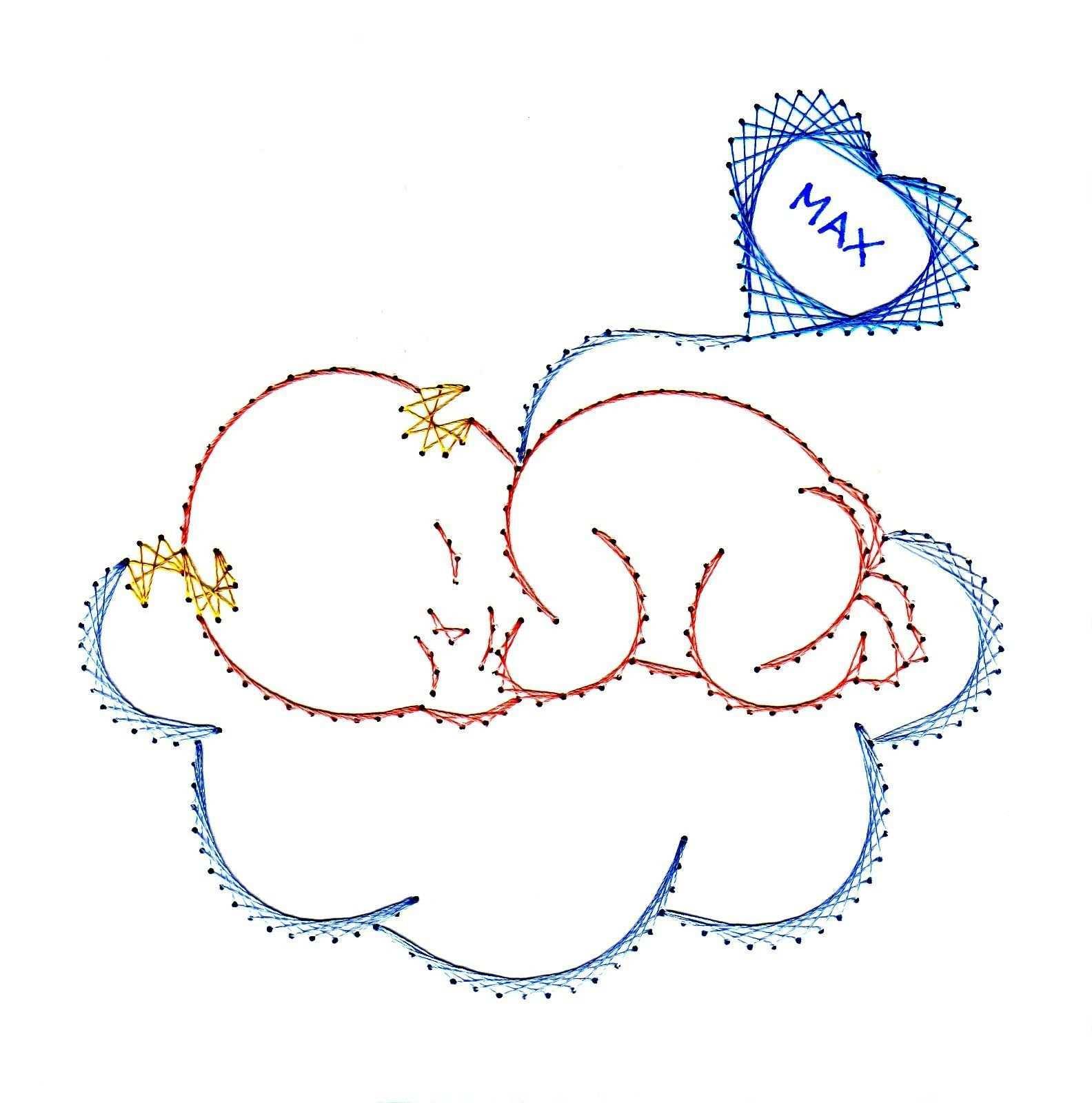 Geburt In 2020 Papierstickerei Karte Muster Fadengrafik