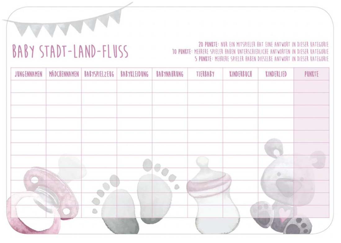 Baby Stadt Land Fluss Pdf Baby Party Baby Shower Parties Baby Shower