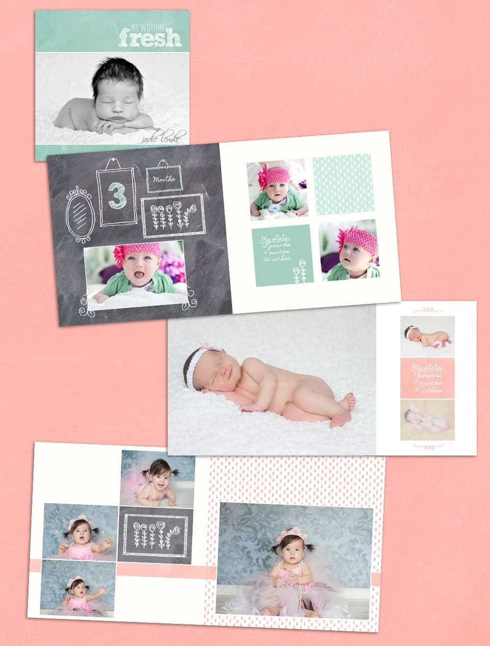 Baby Album Template Watch Me Grow First Year Book Template Etsy Baby Album Baby Photo Books Photobook Layout