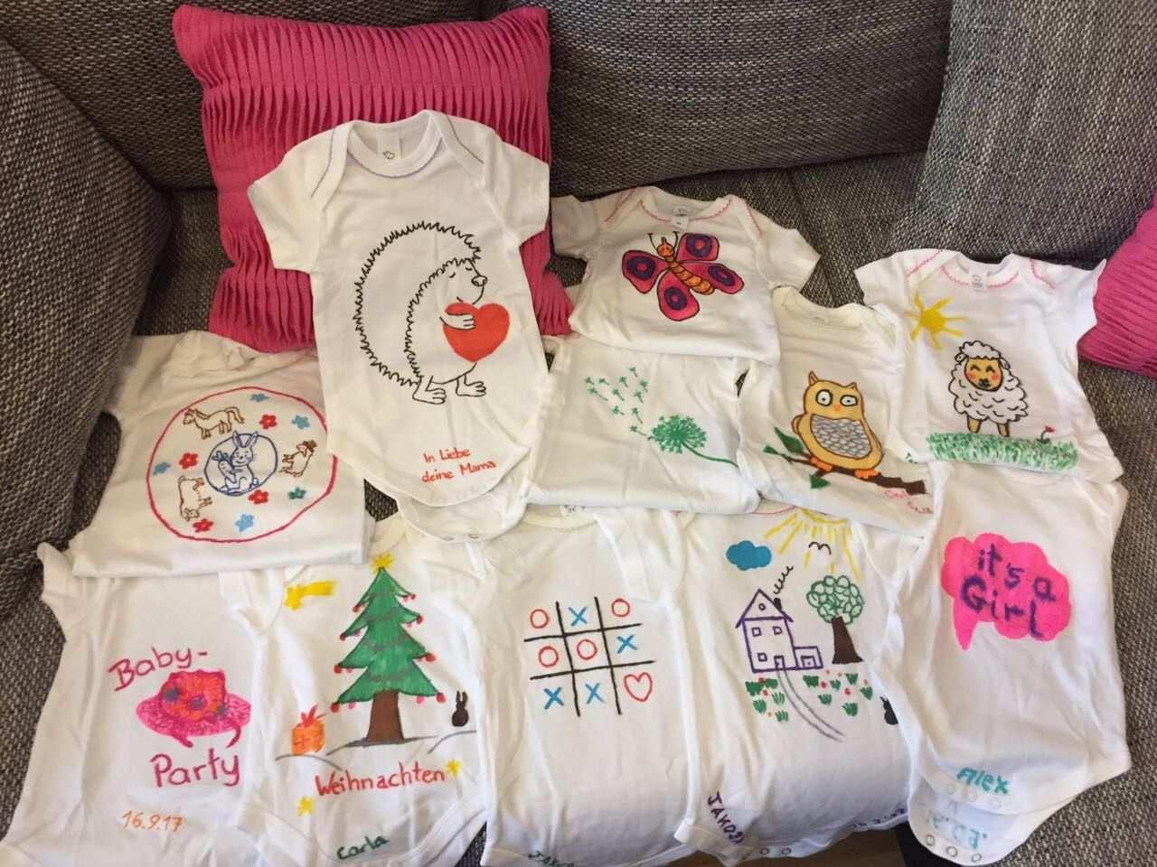 Baby Bodies Bemalen Strampler Spiel Game Girl Babygirl Body Bemalen Baby Baby Geschenke