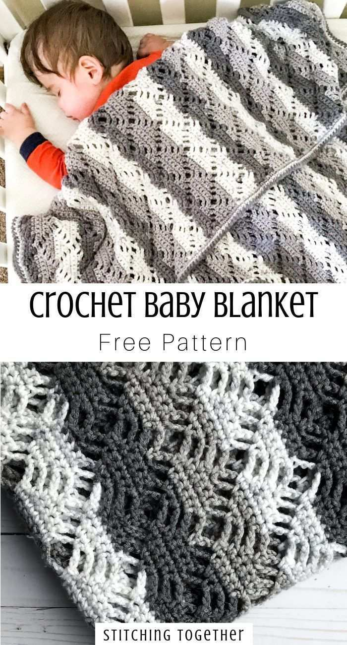 Crochet Diamond Lace Baby Blanket Stitching Together In 2020 Babydecke Hakeln Baby Hakeln Babydecke