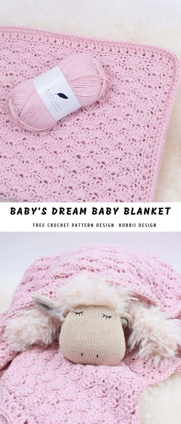 Baby S Dream Baby Blanket Pattern Center In 2020 Hakelmuster Babydecke Babydecke Babydecke Hakeln