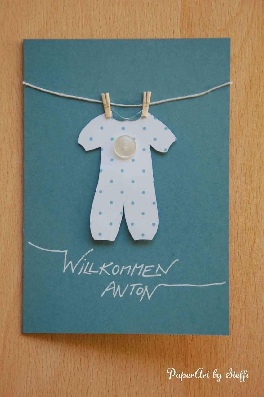 Karte Zur Geburt Nr 385 2 50 Karten Basteln Geburt Karten Basteln Baby Karten Basteln