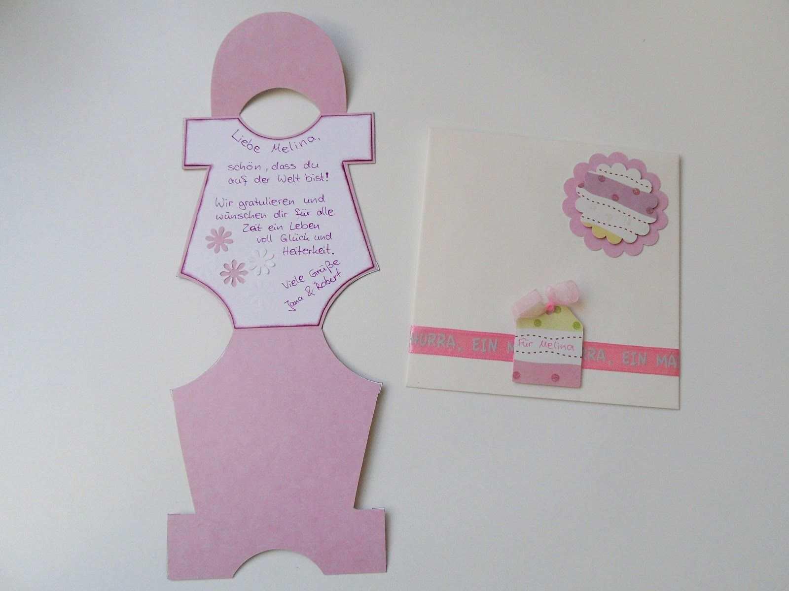 Baby Body Karte Baby Body Basteln Karten Basteln Anleitung