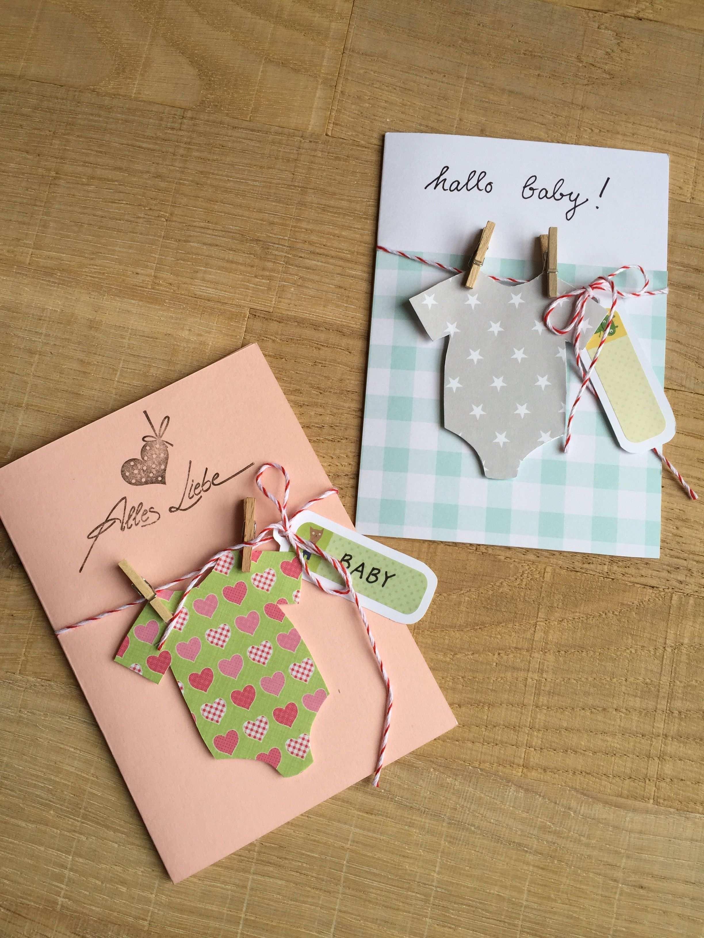Gluckwunsch Karte Hallo Baby Karten Basteln Baby Karten Selber Basteln Geburtstagskarte