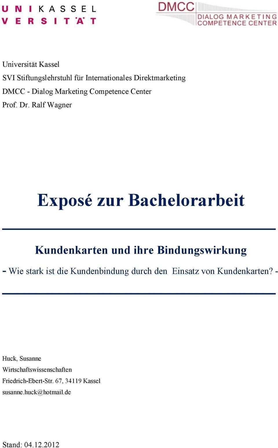 Expose Zur Bachelorarbeit Pdf Free Download