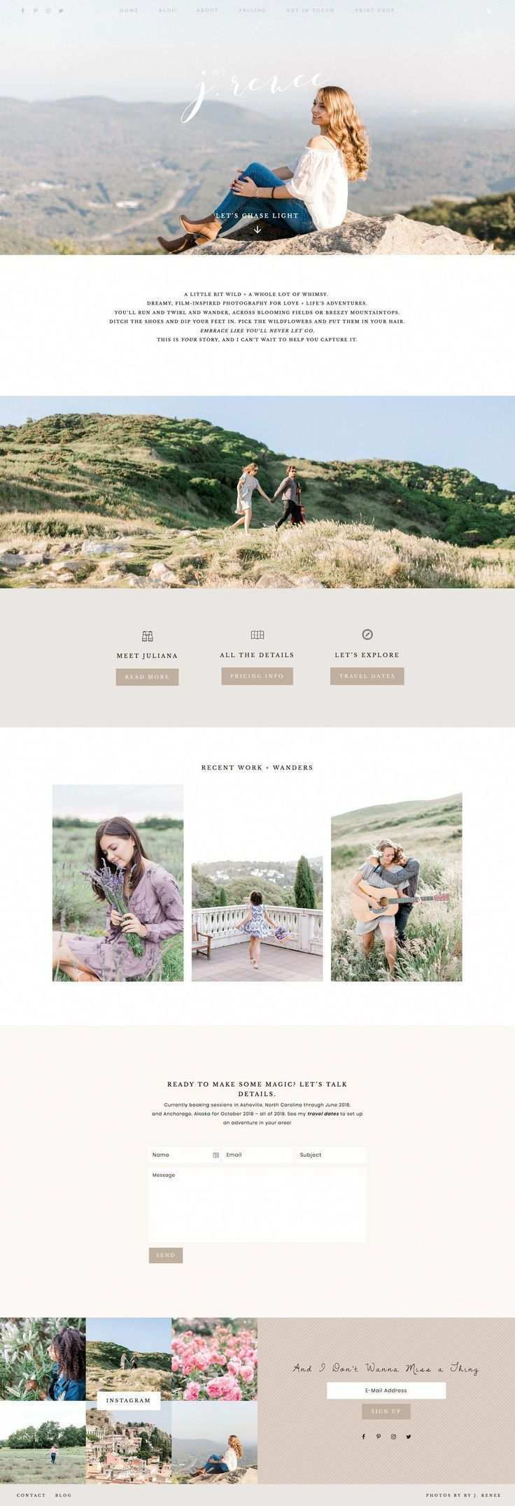 Juliana Renee Is A Talented Lifestyle Photographer With An Amazing Eye Her Portfolio Of Work Is Simply Stunning An Web Design Web Design Trends Website Design