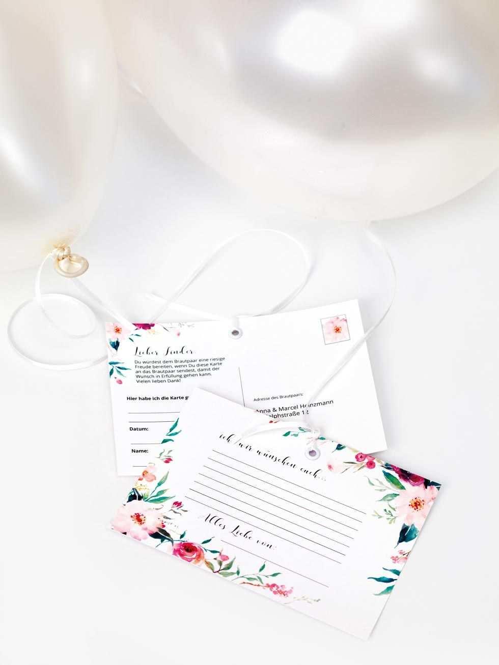 Ballonkarten Gestalten Neue Ideen Richtig Schone Personalisierte Karten Luftballons Hochzeit Wunsche Fur Das Brautpaar Karte Hochzeit