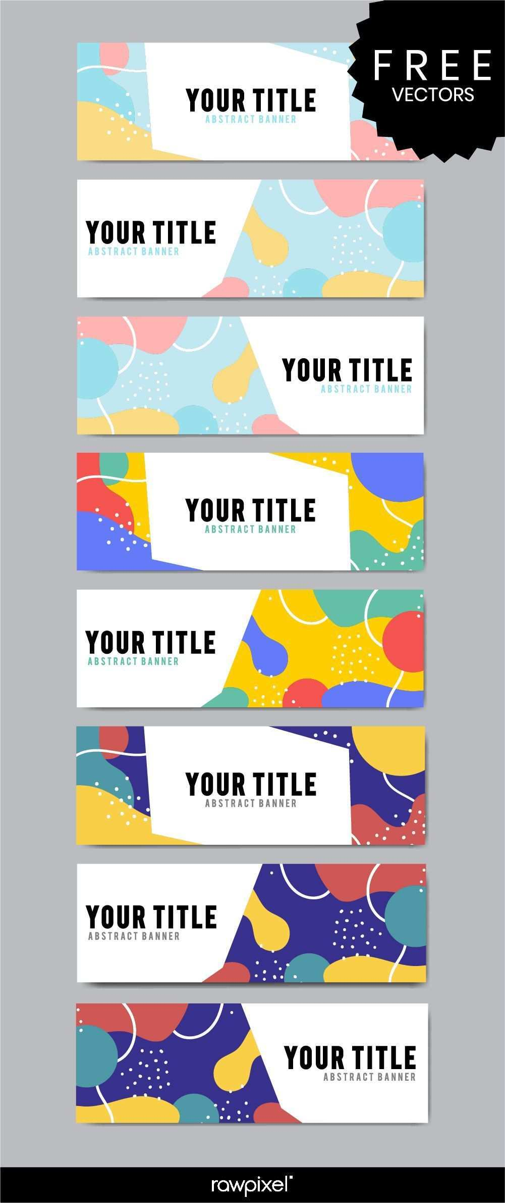 Download Free Modern Business Banner Templates In Memphis Style At Rawpixel Com Webdesignba Banner Template Design Web Banner Design Banner Design Inspiration