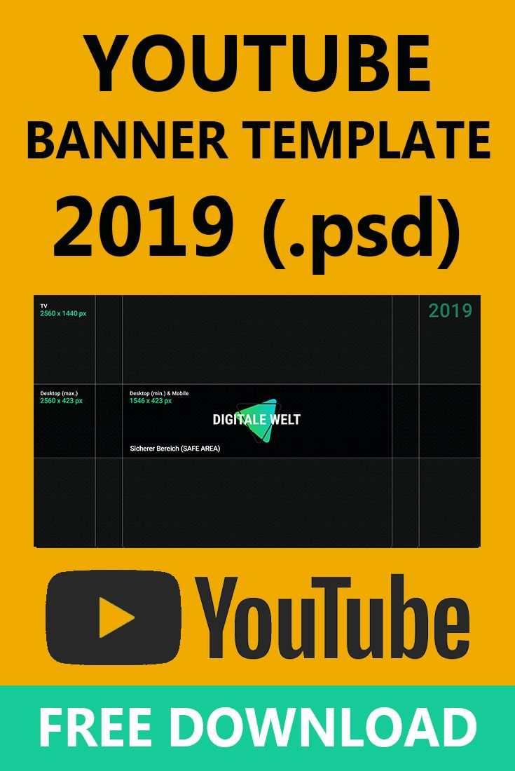 Youtube Kanalbild Template 2019 Digitalewelt Digitale Welt Youtube Banner Youtube Kanalbild Youtube Banner Vorlage