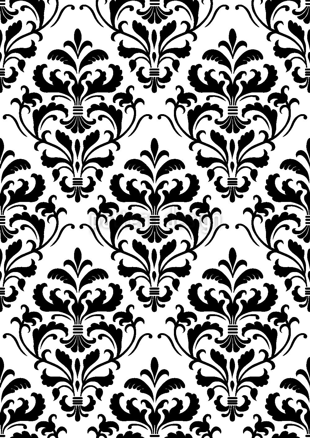 Schwarz Weiss Barock Umfarbbarer Baumwollstoff Viskose O Baumwoll Jersey Designt Von Martina Gadermeier Www Stoff Love Barock Vektormuster Schwarz Weisse Vorhange