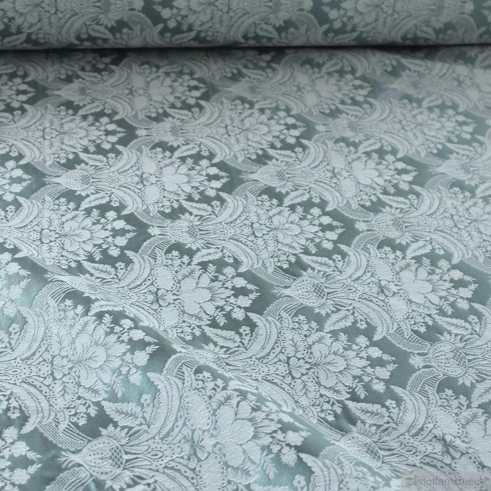 Polyester Baumwolle Jacquard Ornament Turkis Ecru Breit Stoff Am Stuck Ornamente Stoff Am Stuck Dekoration