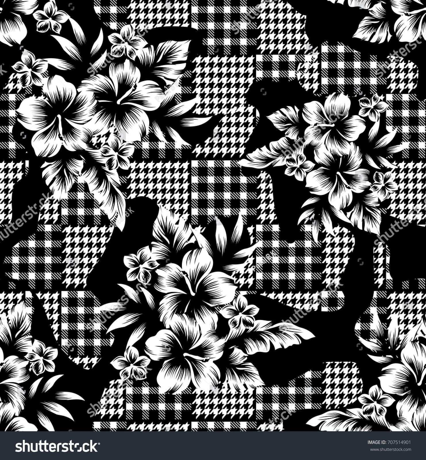 Eclectic Fabric Plaid Seamless Pattern With Baroque Ornament Musterkunst Hintergrundmuster Muster