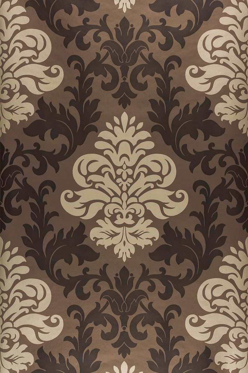 Tapete Barock Ornamente Rasch Lounge Glanz Braun 156645 Damask Wallpaper Baroque Ornament Royal Wallpaper