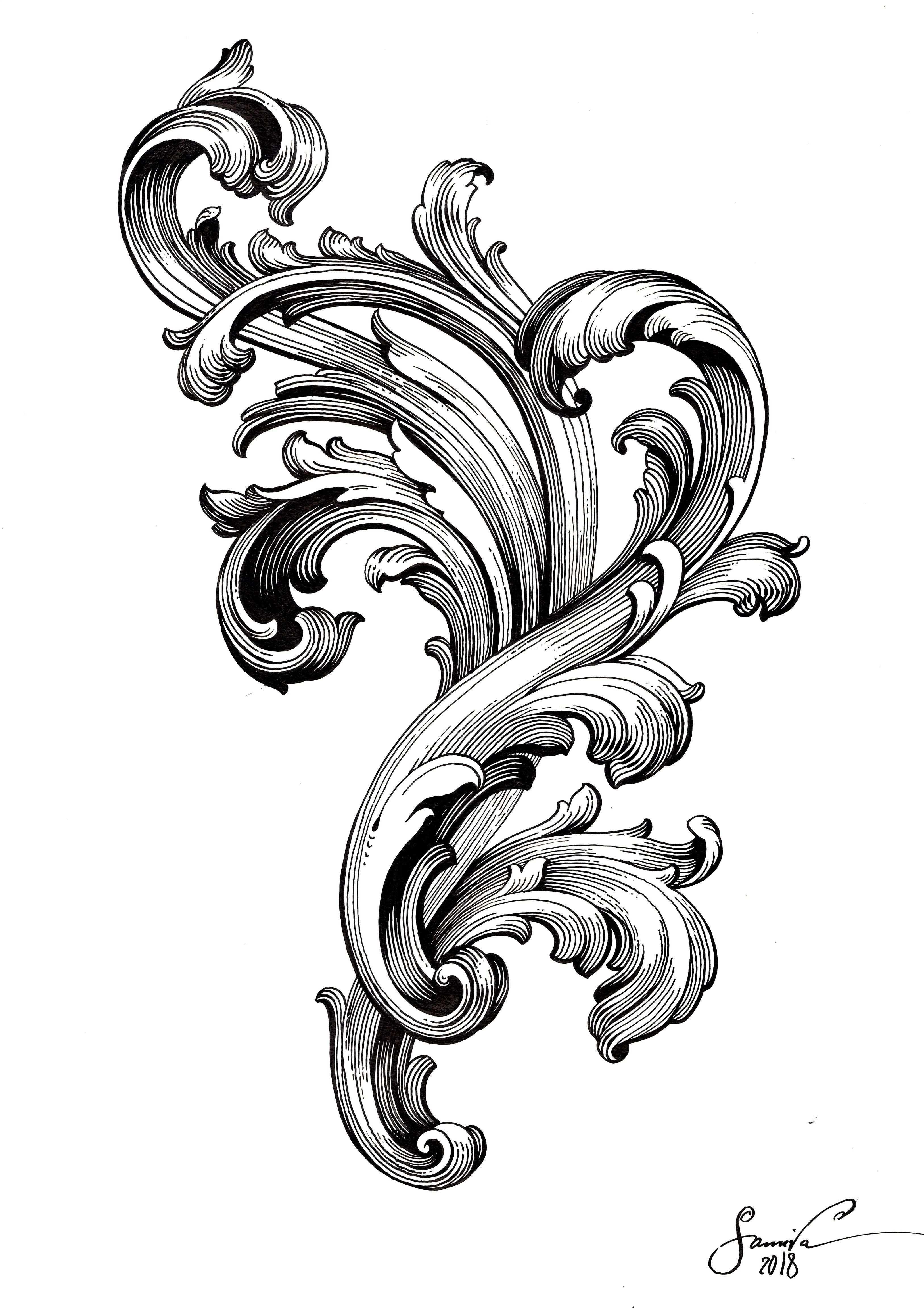 Vielleicht Das Barock Tattoo Tattoo Ornamente Unterarm Tattoo Vorlagen