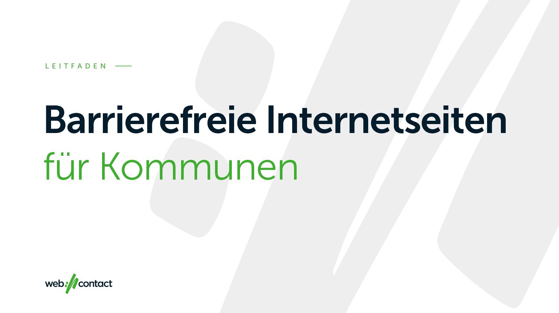 Barrierefreie Internetseiten Fur Kommunen
