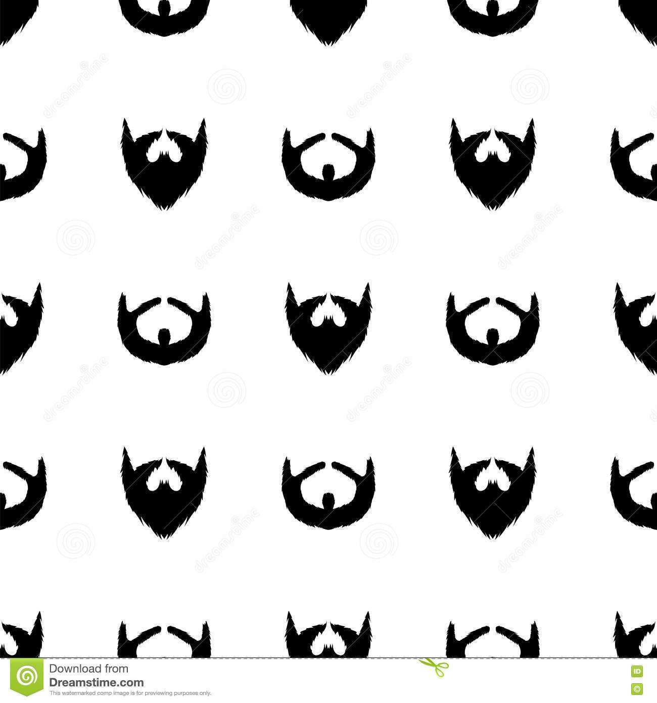 Bart Schattenbild Nahtloses Muster Vektor Abbildung Illustration Von Schattenbild Bart 73554766
