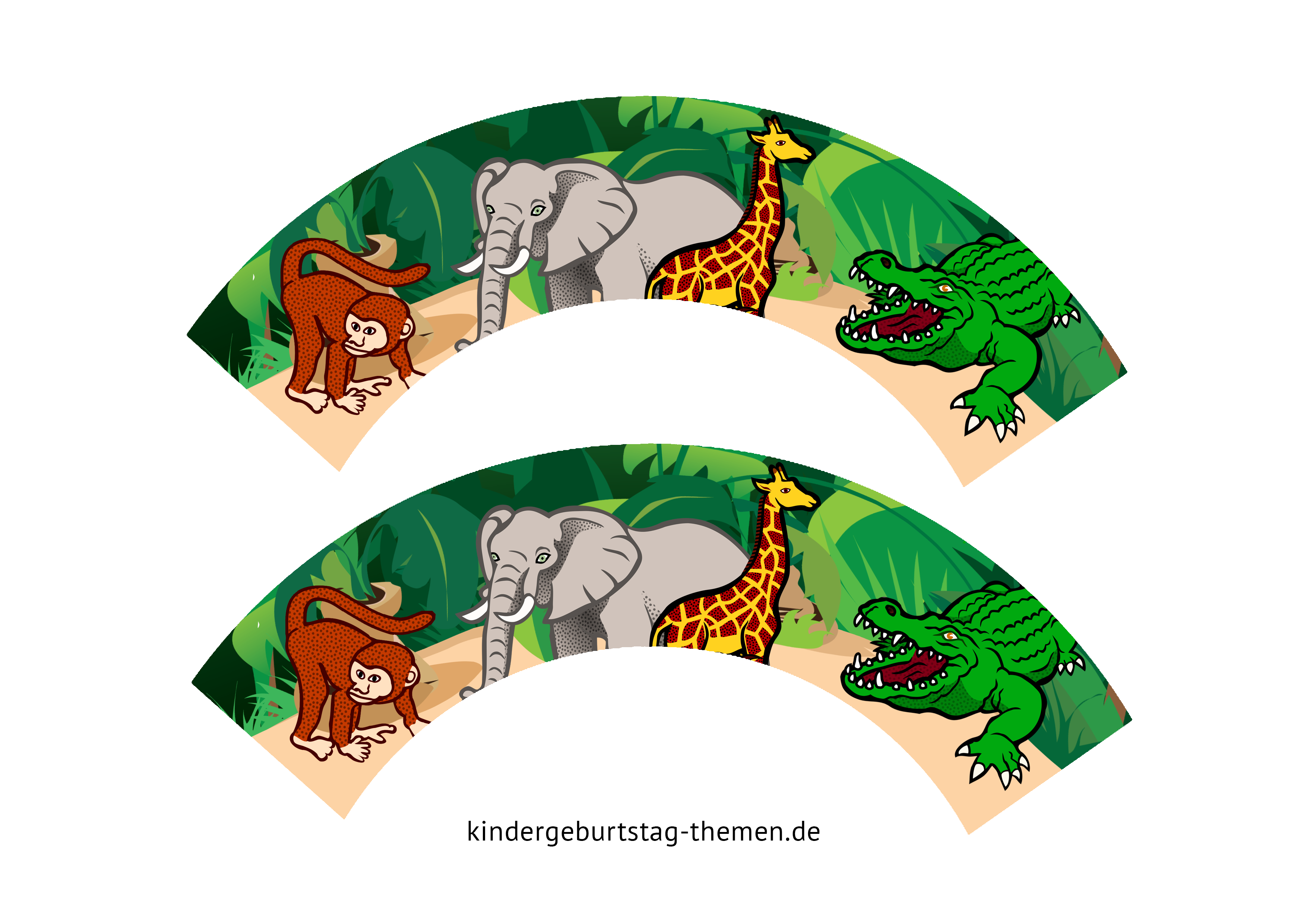 Dschungel Deko Basteln Vorlagen Und Ideen Von Dekoration Fur Safari Party In 2020 Safari Party Deko Basteln Kindergeburtstag Feiern