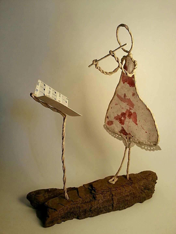 Flotentone Basteln Mit Papierdraht Basteln Weihnachten Draht Basteln Mit Draht