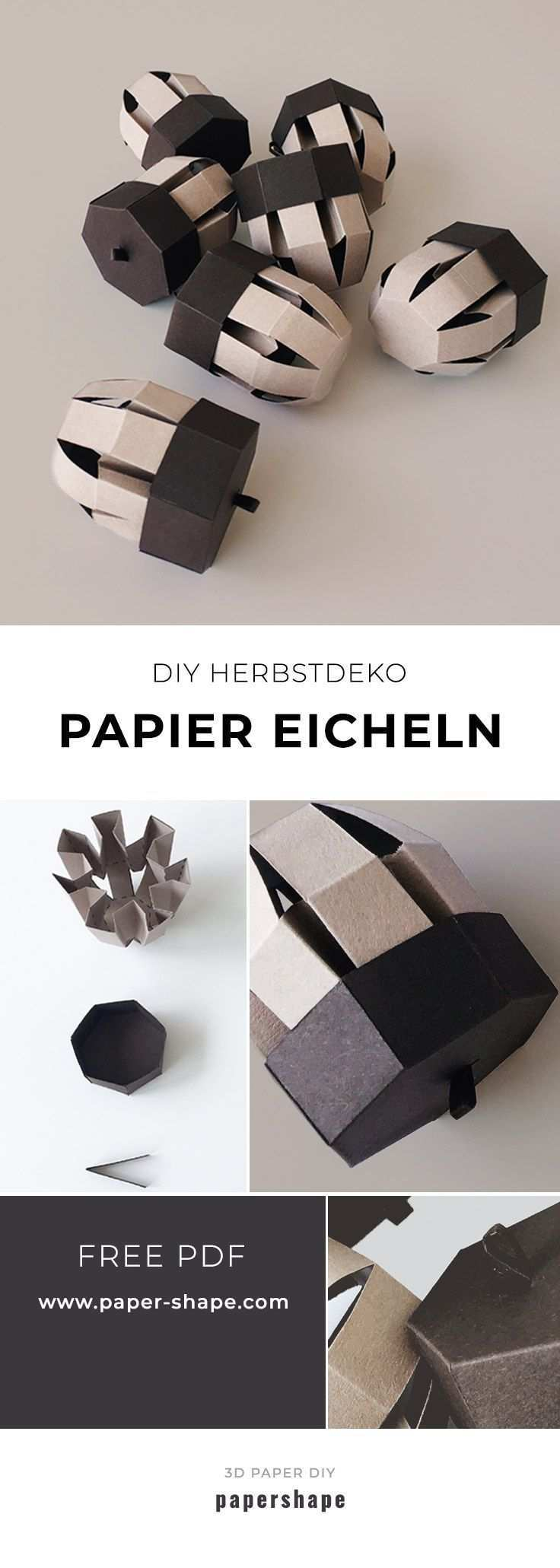 Diy Eicheln Basteln Mit Papier Kostenlose Vorlage Eicheln Basteln Mit Papier Kostenlose Vorlagen