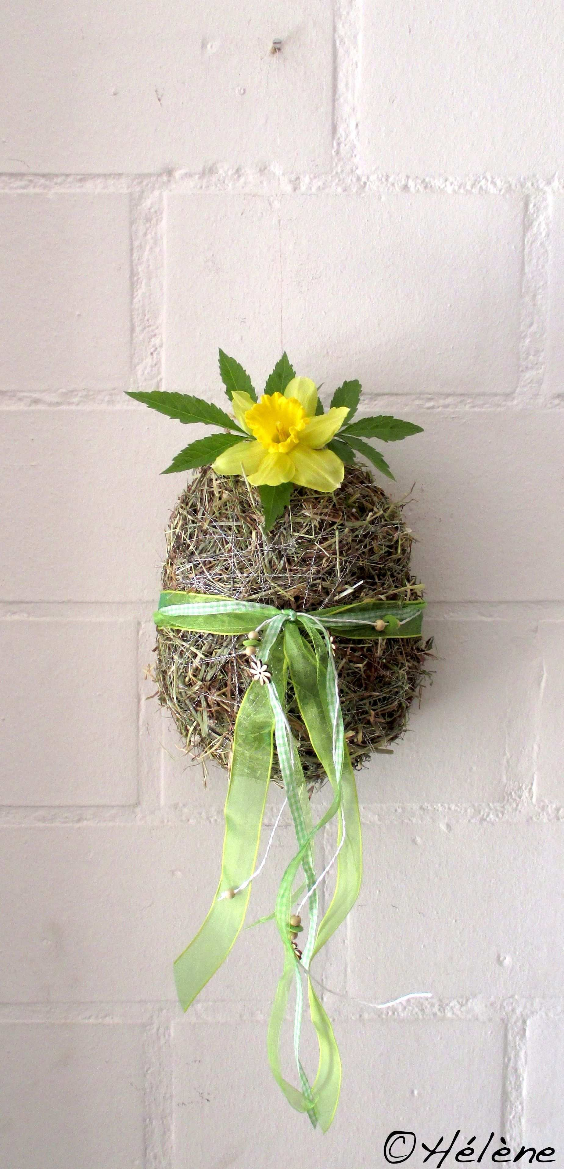 Ei Aus Heu Osternest Basteln Bastelideen Ostern Ostern 2017