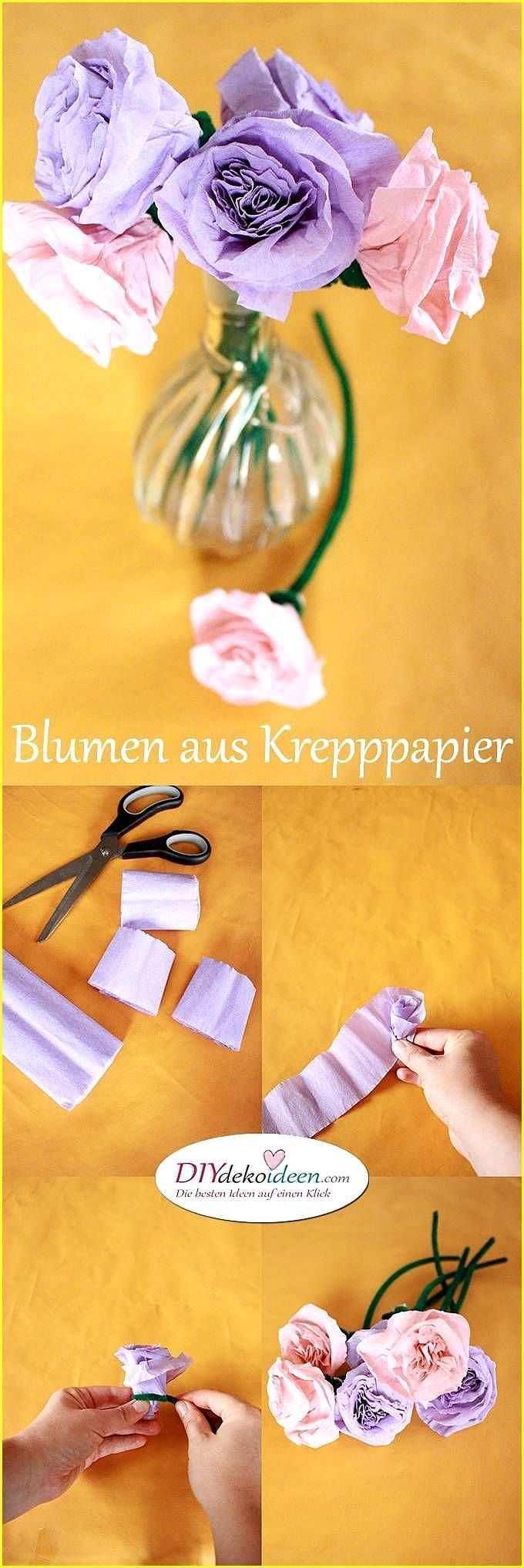 Mit Krepppapier Spielerisch Rosen Basteln Bastelideen Fur Kinder Spielerisch In 2020 Rosen Basteln Blumen Basteln Mit Kindern Papierrosen Basteln