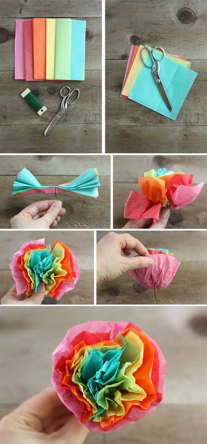 I Meant To Post These Cute Tissue Paper Flowers Before Cinco De Mayo Which Would Ha Tissue Paper Flowers Diy Tissue Paper Flowers Mexican Tissue Paper Flowers