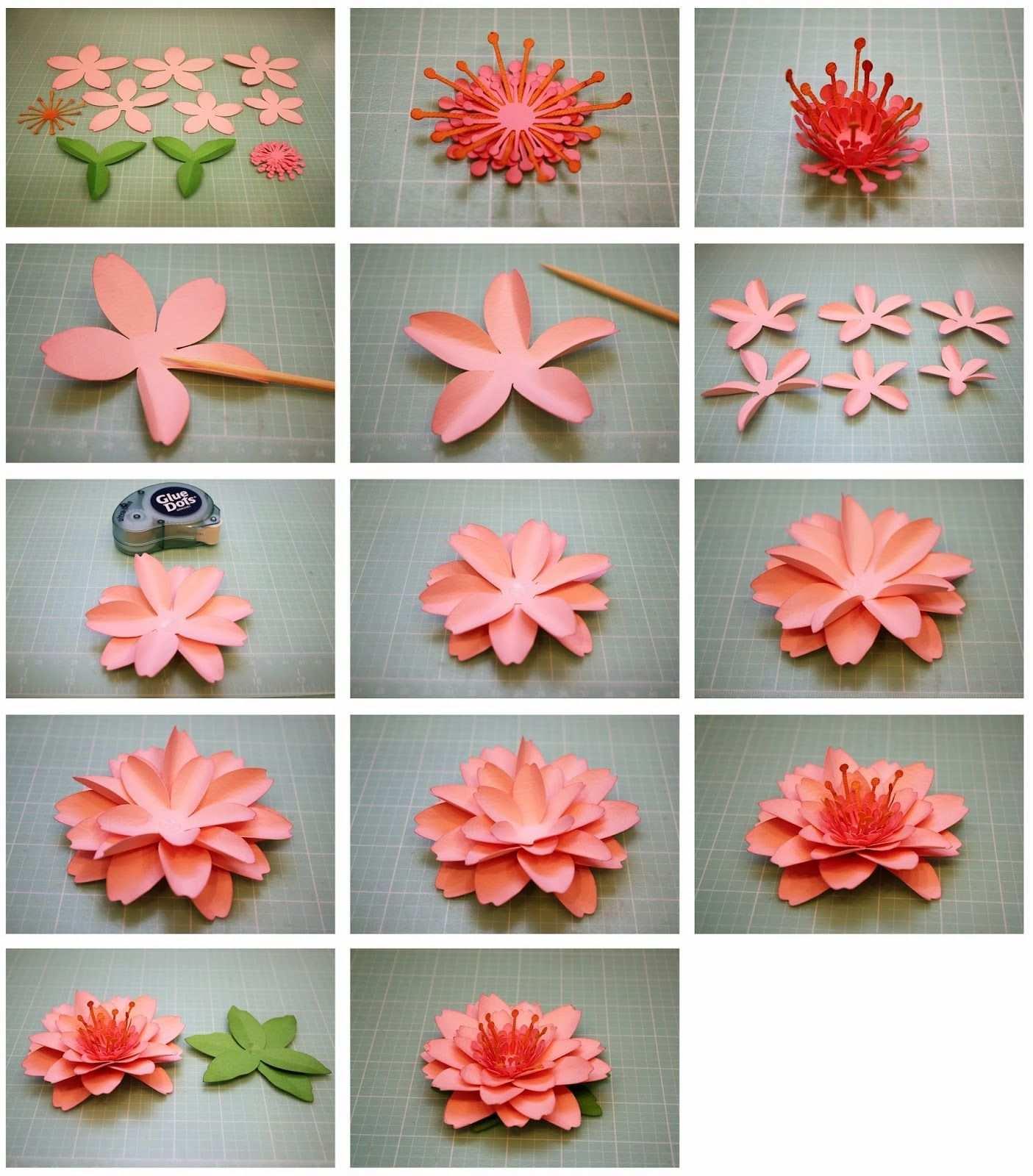 Daffodil And Cherry Blossom 3d Paper Flowers Blumen Basteln Bluten Basteln Origami Blume