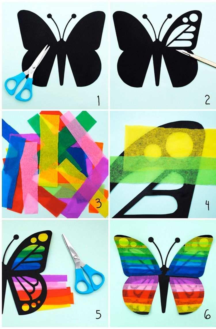 Basteln Mit Seidenpapier Schmetterlinge Anleitung Fensterdeko Decoration Easter Basteln Fruhling Fensterdeko Fensterdeko Basteln Basteln Fruhling Kinder