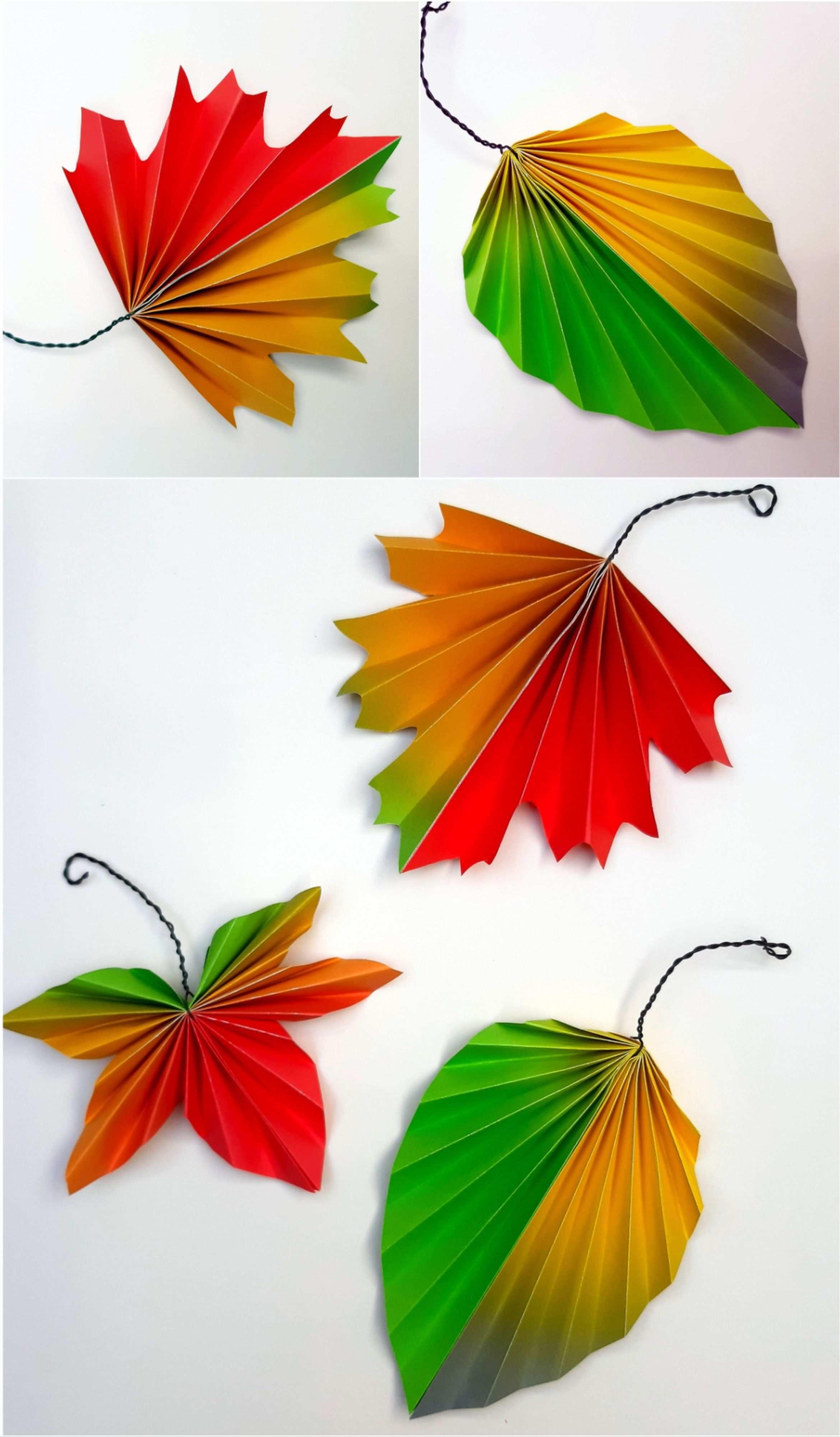 Faltblatter Aus Regenbogenpapier Eine Idee Aus Der Buntpapierwelt De Basteln Mit Papier Herbst Basteln Mit Papier Origami Herbstdeko Basteln Naturmaterialien