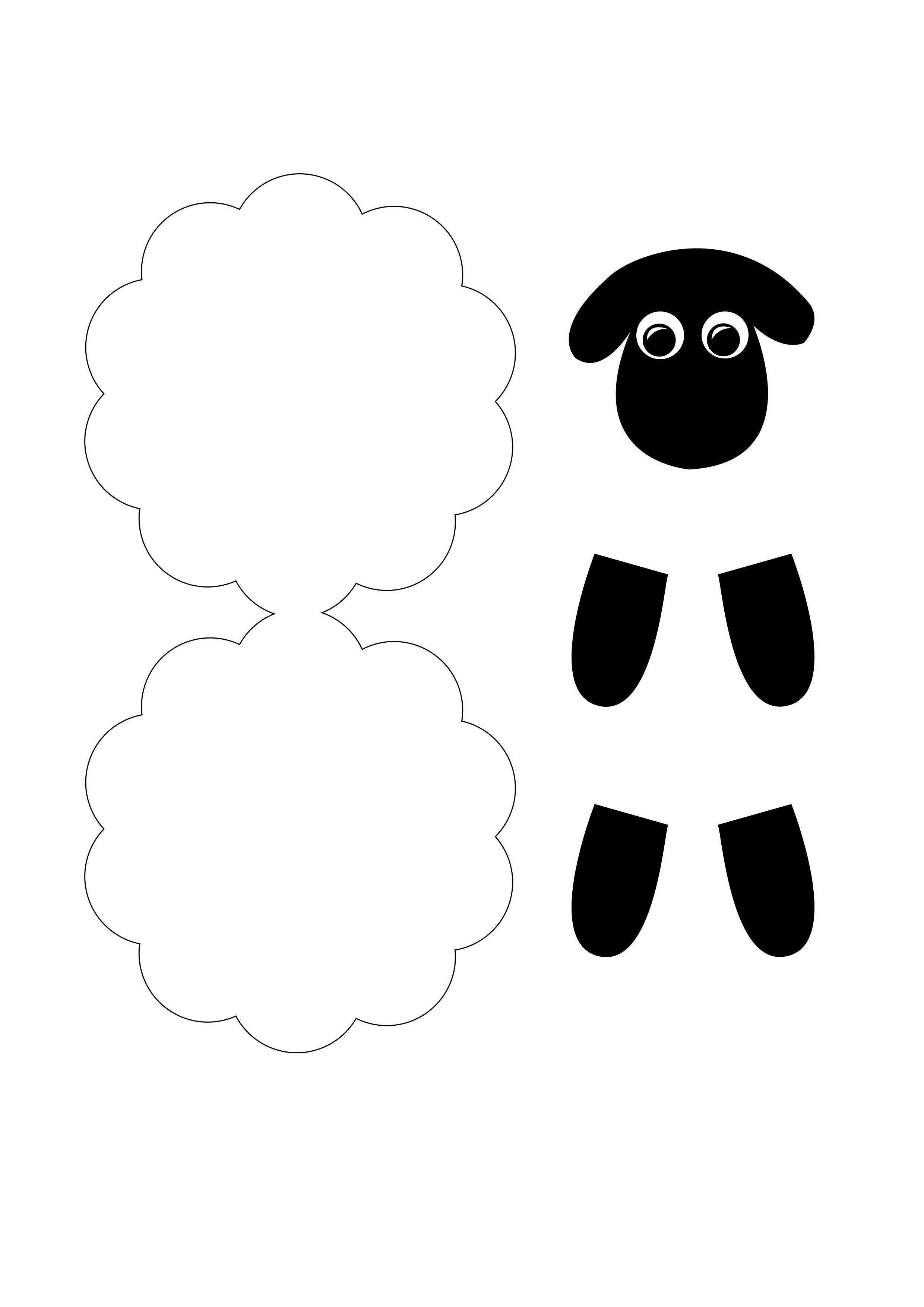 Schaf Schablone Zum Basteln Schafe Basteln Schaf Kindergarten Kostenlose Schablonen