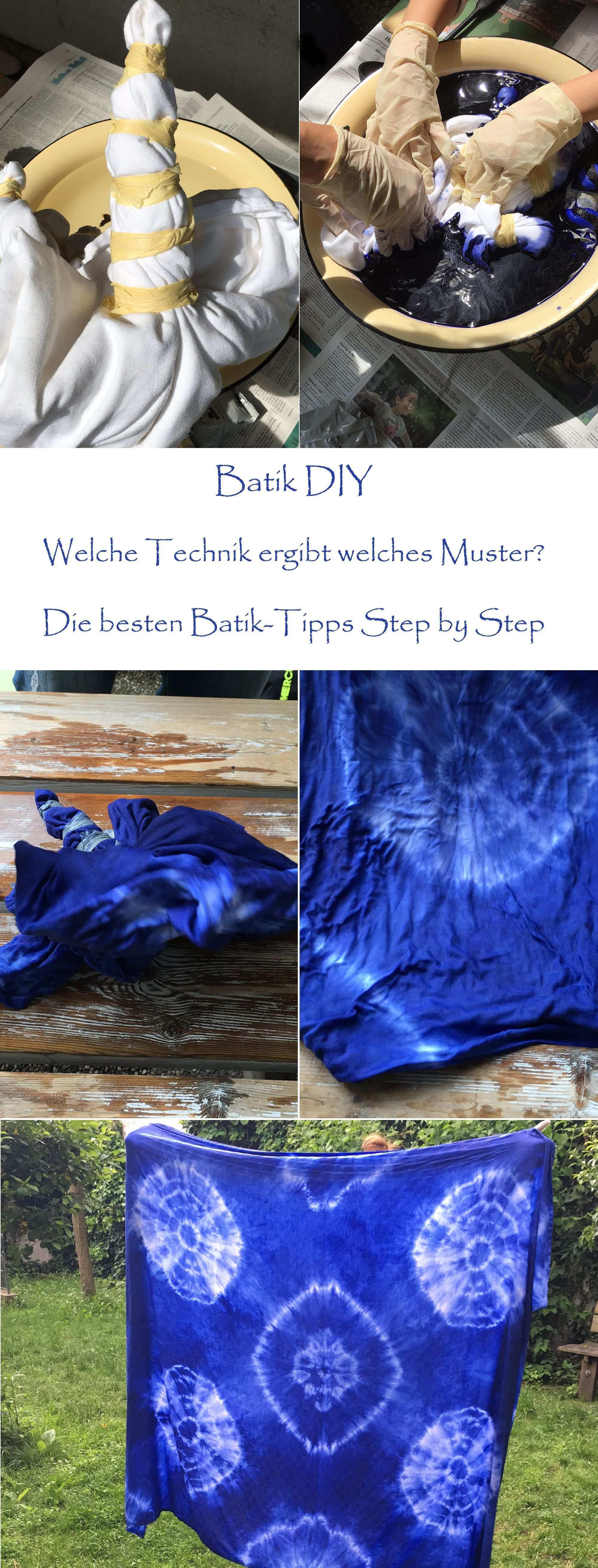 Batikanleitung Selbermachen Einfachste Anleitung Batiken Welches Faltung Einfach Ergibt Welche Muster Allem Batik Diy Fabric Crafts Diy Tie Dye Diy