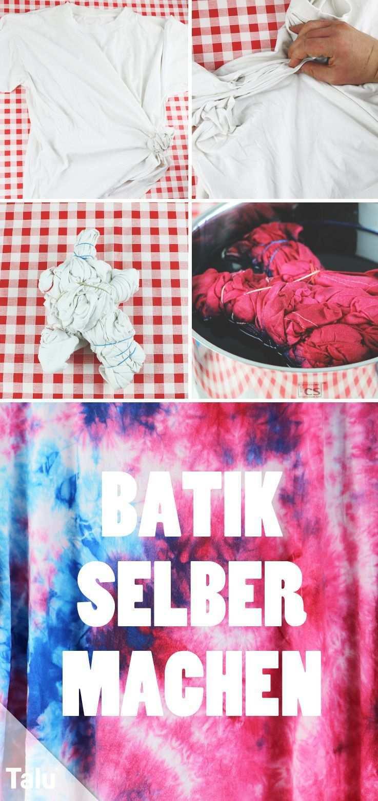 Batik Selber Machen Diy Anleitung Fur T Shirts Batikfarben Talu De Batikfarbe Batik Tshirt Batiken