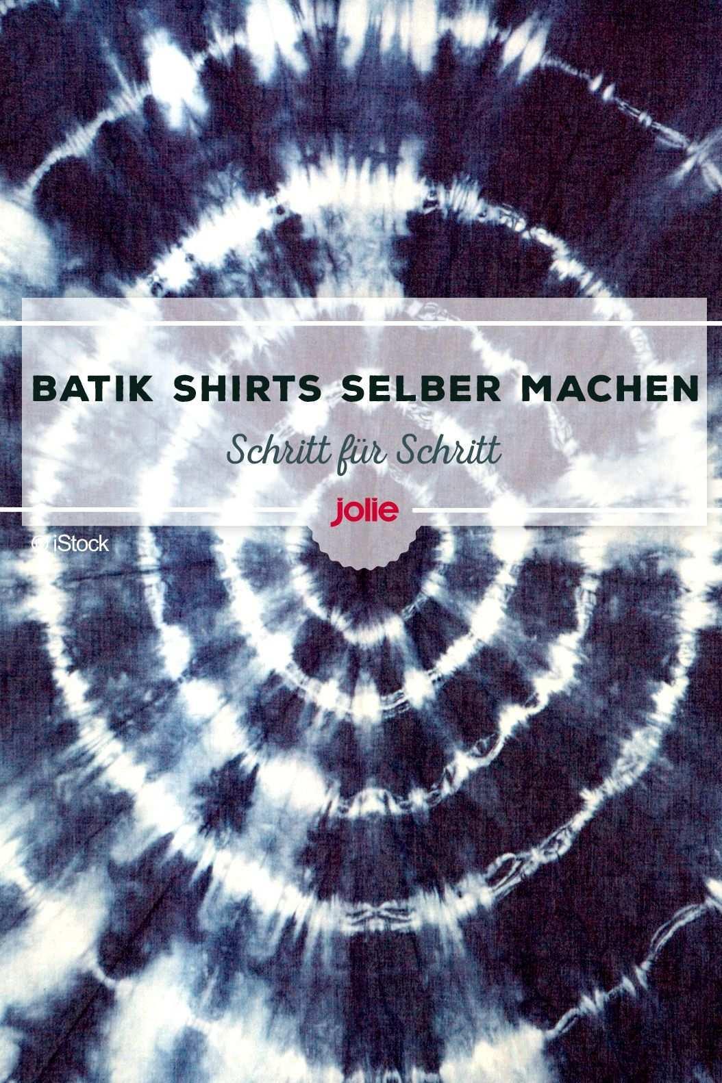 Batiken Die Einfachste Batik Anleitung Im Netz Batik Shirt Batik Anleitungen