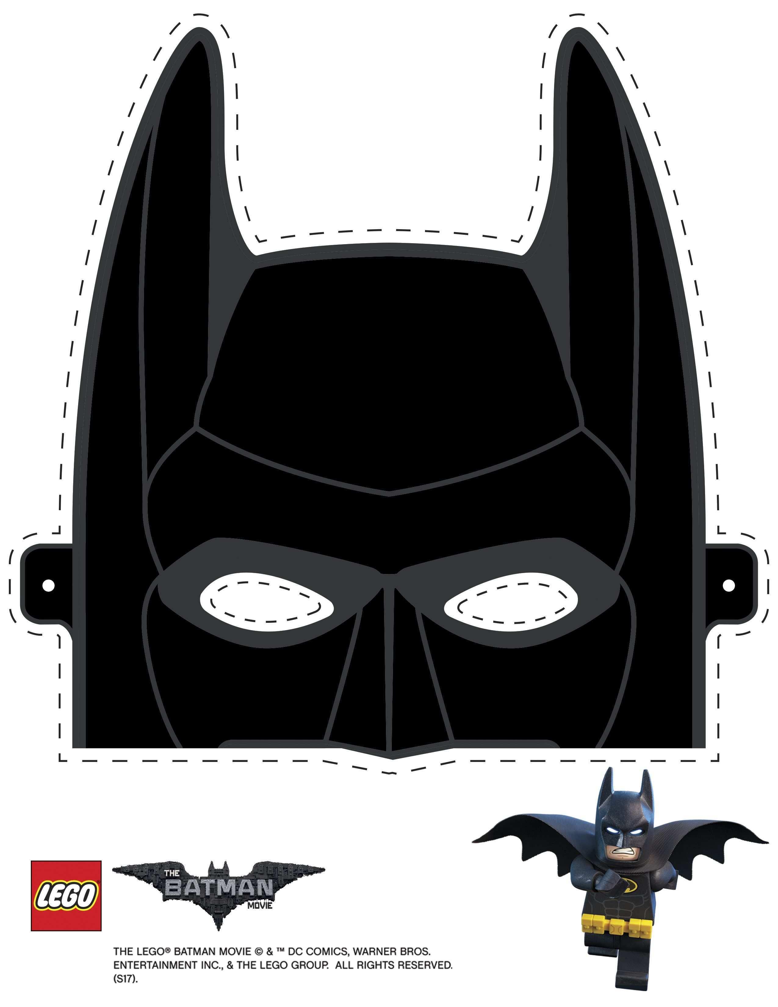 Mask Cutout Batman Festa Lego Batman Batman Em Lego Lembrancinhas Batman