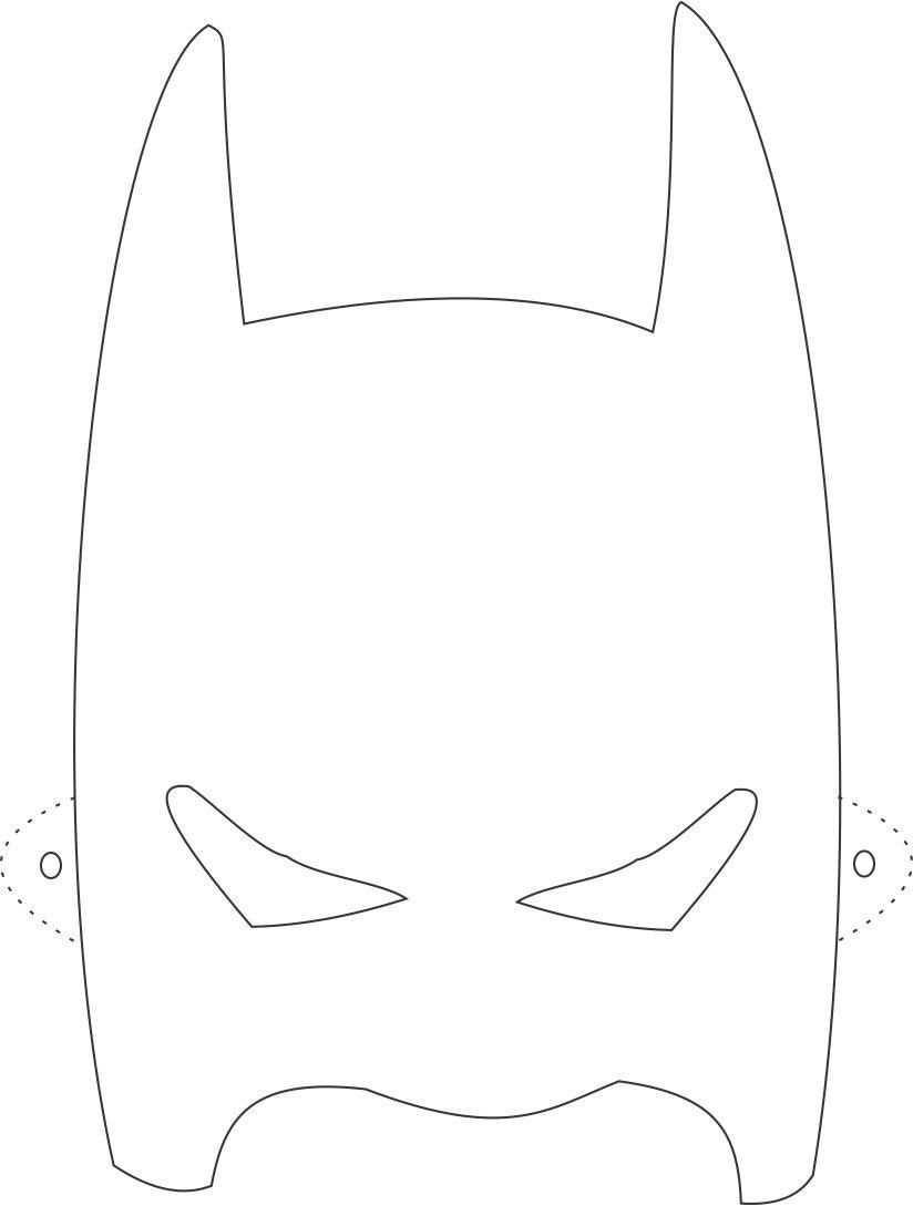 Batman Mask Printable Coloring Page For Kids Coloring Pages Of Various Face Masks Batman Birthday Batman Mask Batman Birthday Party