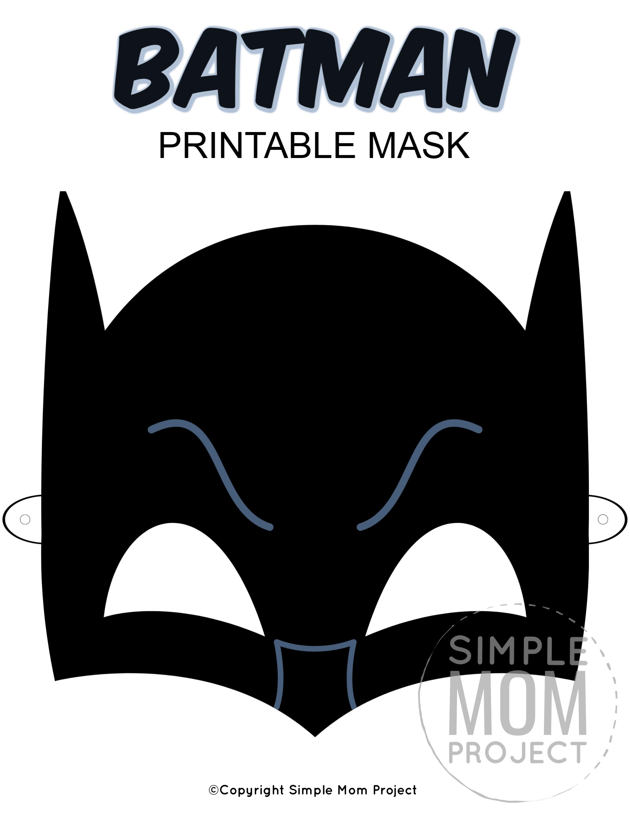 Free Printable Batman Mask Templates