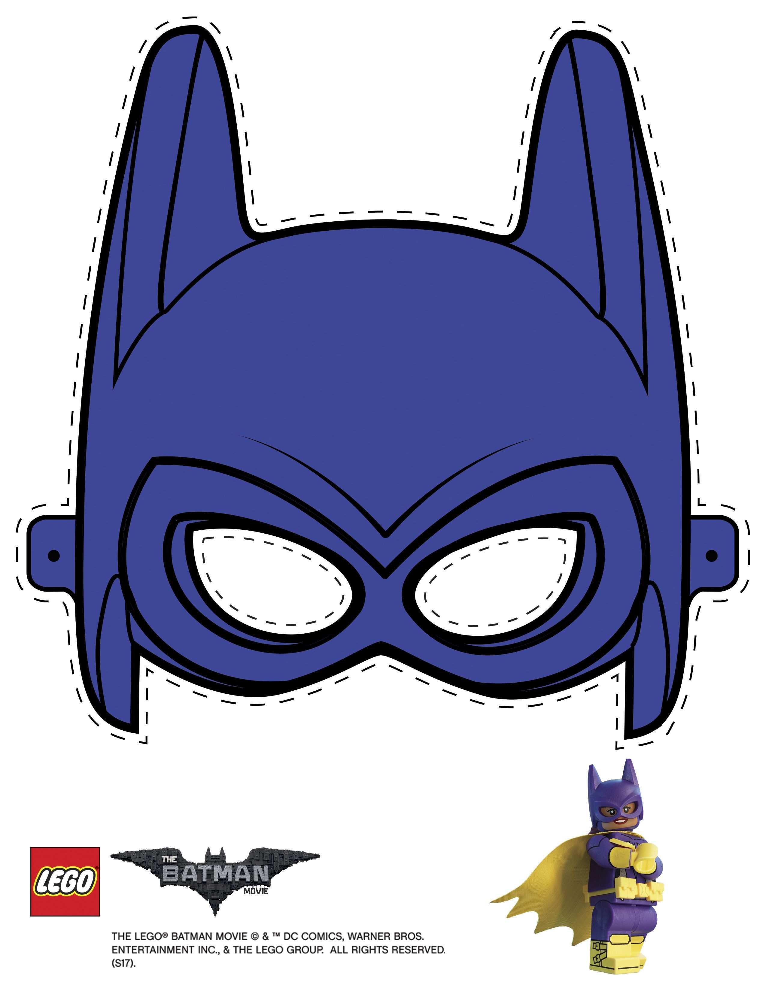 Mask Cutout Batgirl Lego Batman Party Batman Party Lego Batman Movie