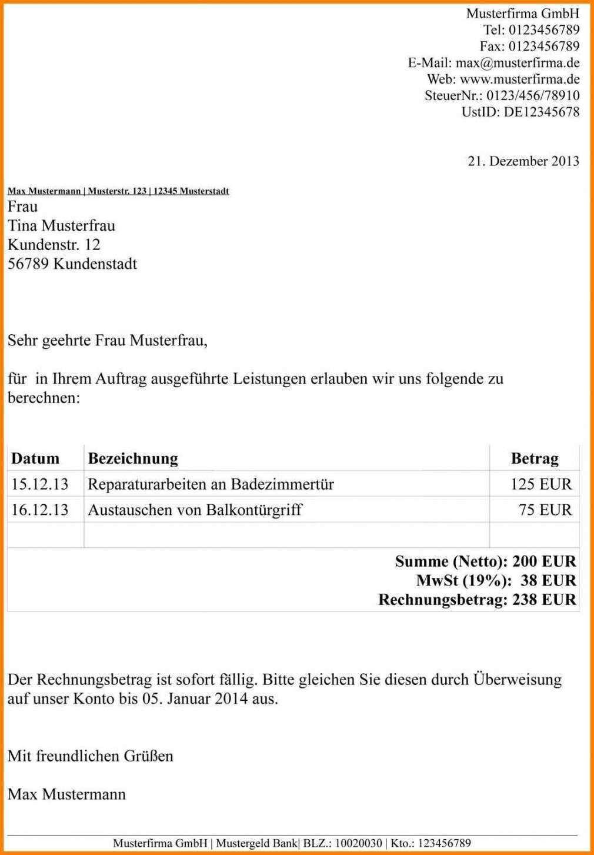 Harmonischerstaunlich Vorlage Rechnung Ohne Umsatzsteuer Idei Po Organizacii Prostranstva