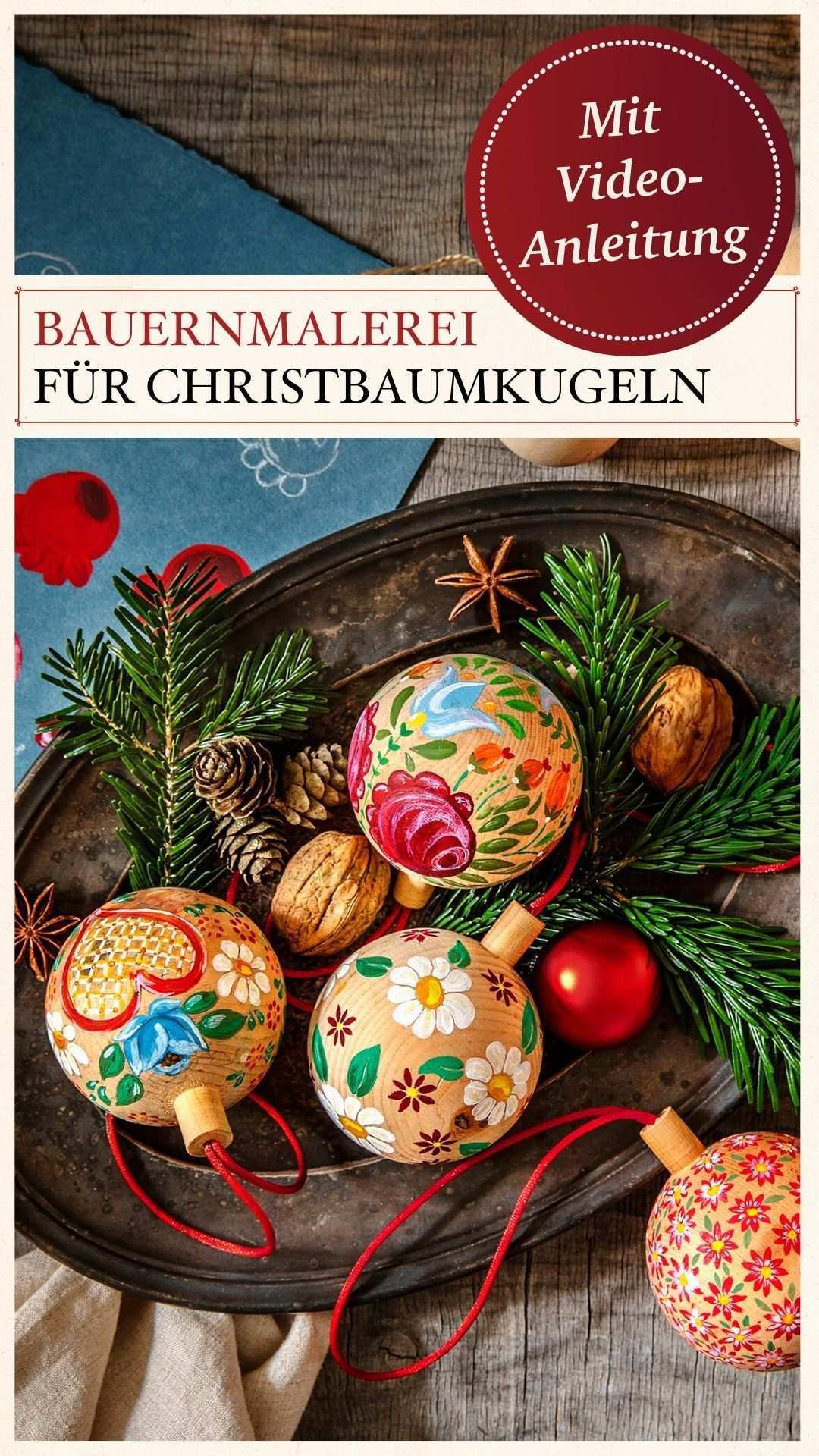 Bauernmalerei Fur Christbaumkugeln In 2020 Christbaumkugeln Bauernmalerei Selbermachen