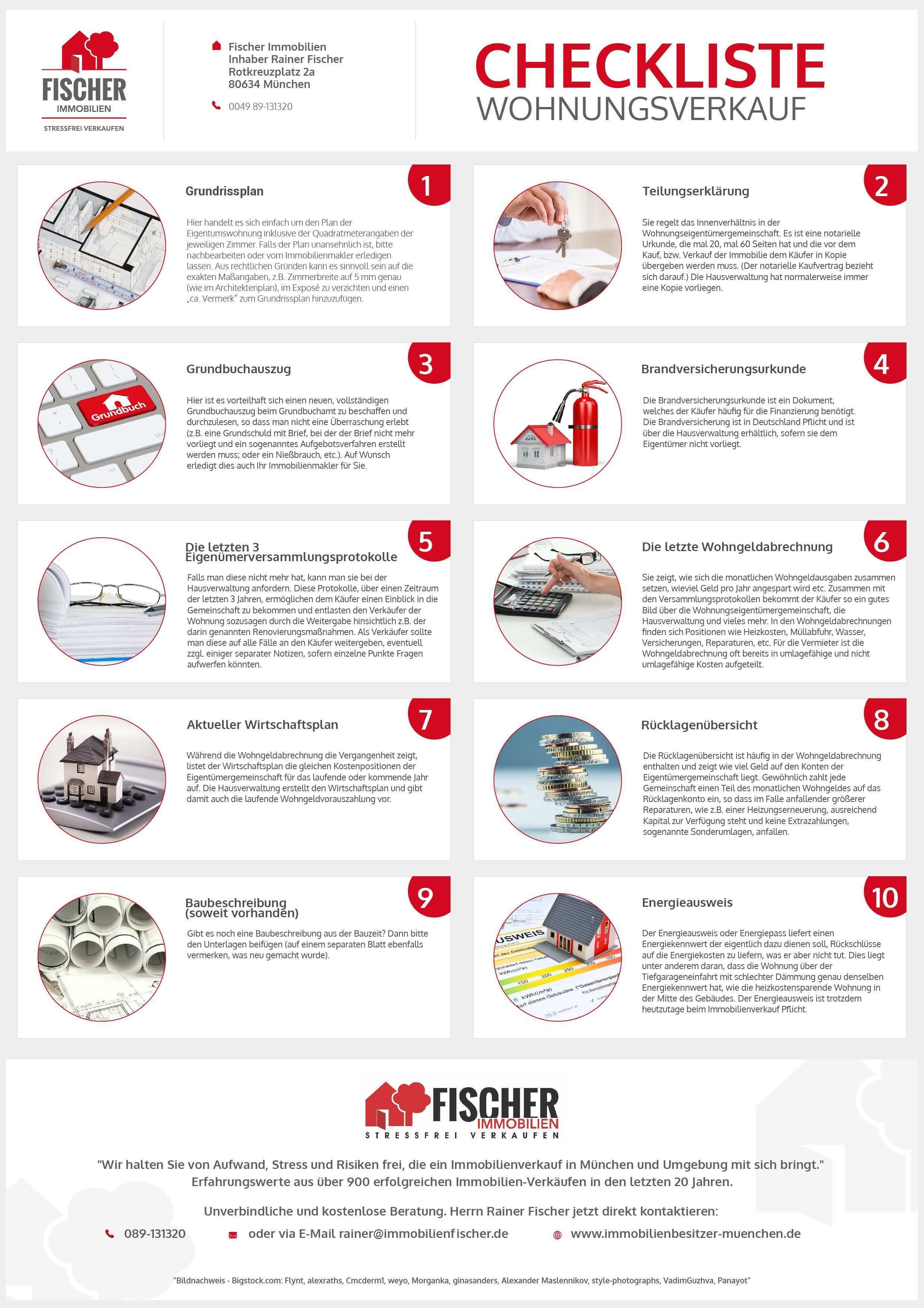 Checkliste Wohnungsverkauf Alle Wichtigen Unterlagen Immobilienmakler Munchen Immobilien Immobilienmakler