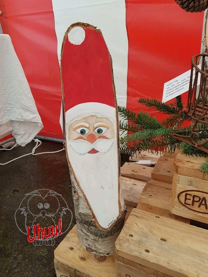 St Nikolaus Aus Rund Holz Gesicht Handgemalt Malen Auf Holz Dekoration Fur Weihnachten Santa Clau Weihnachten Holz Basteln Weihnachten Weihnachtsbasteln