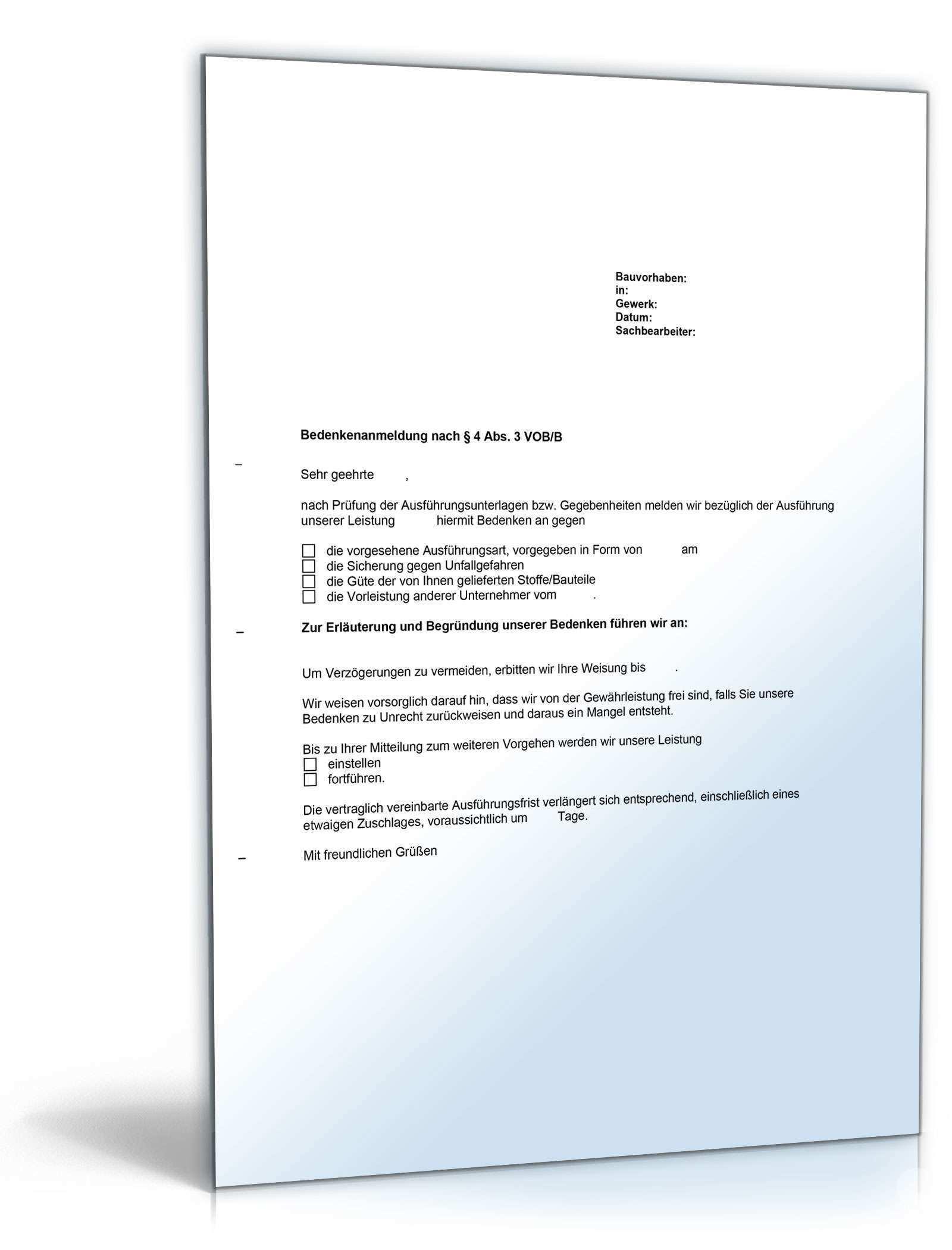 Umfassende Bedenkenanmeldung Beim Bauvertrag