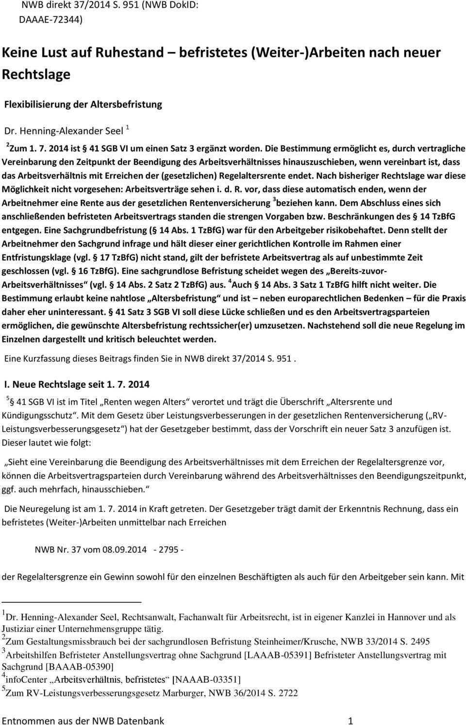 Keine Lust Auf Ruhestand Befristetes Weiter Arbeiten Nach Neuer Rechtslage Pdf Free Download