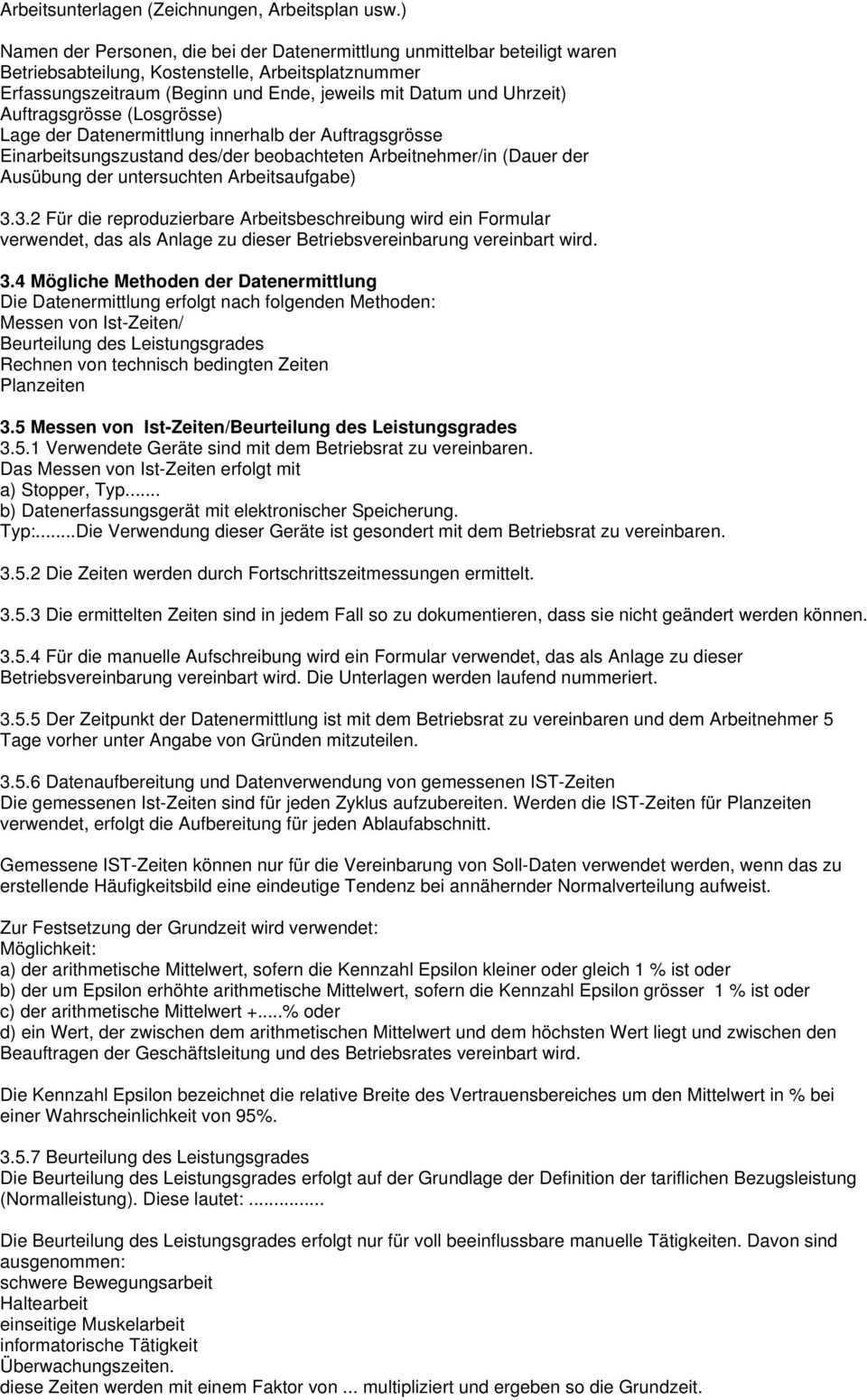 Muster Betriebsvereinbarung Zum Thema Akkord Pdf Kostenfreier Download