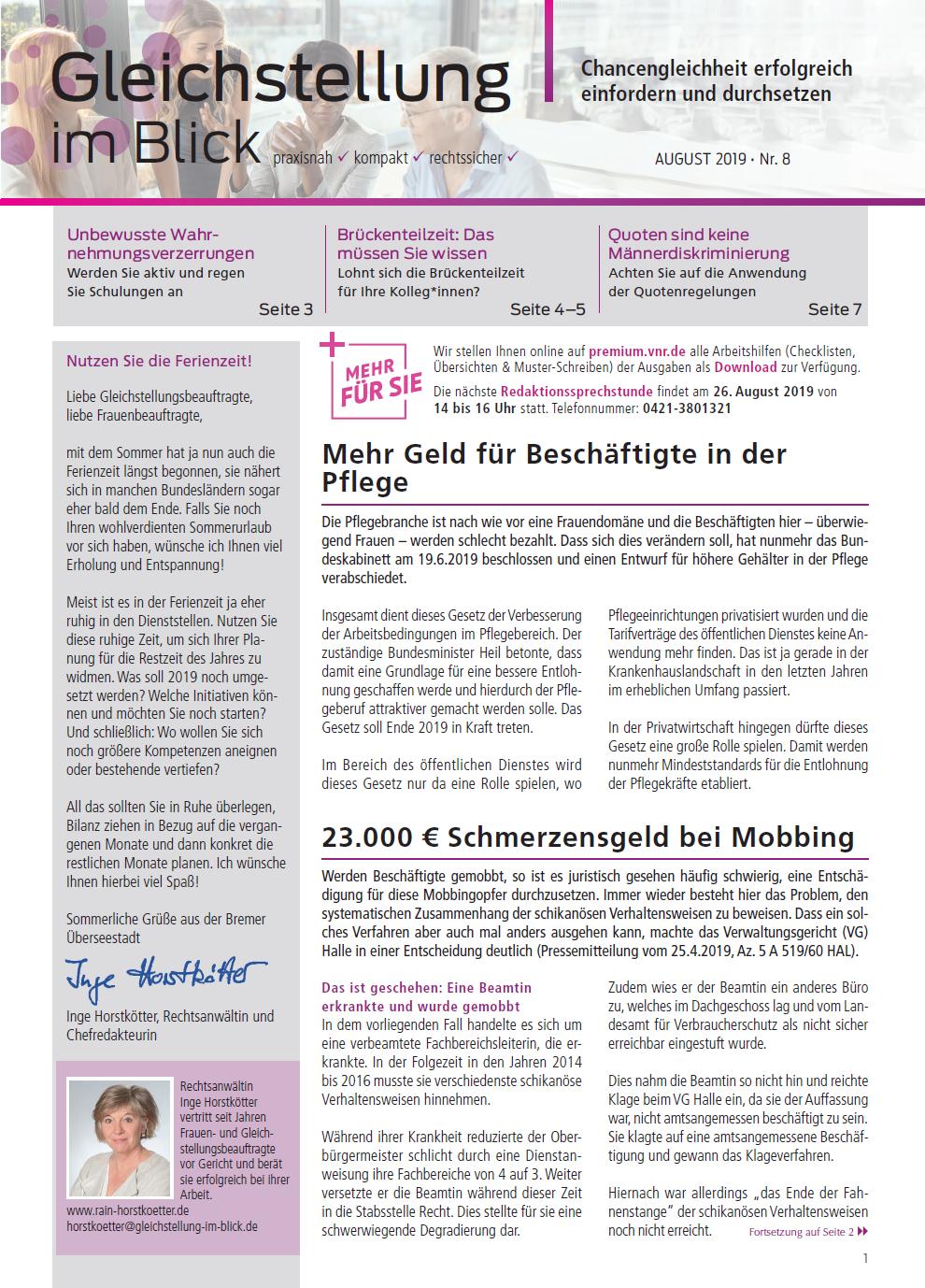 Frauen Und Gleichstellungsgesetze In Bund Und Landern Allgemeines Gleichbehandlungsgesetz