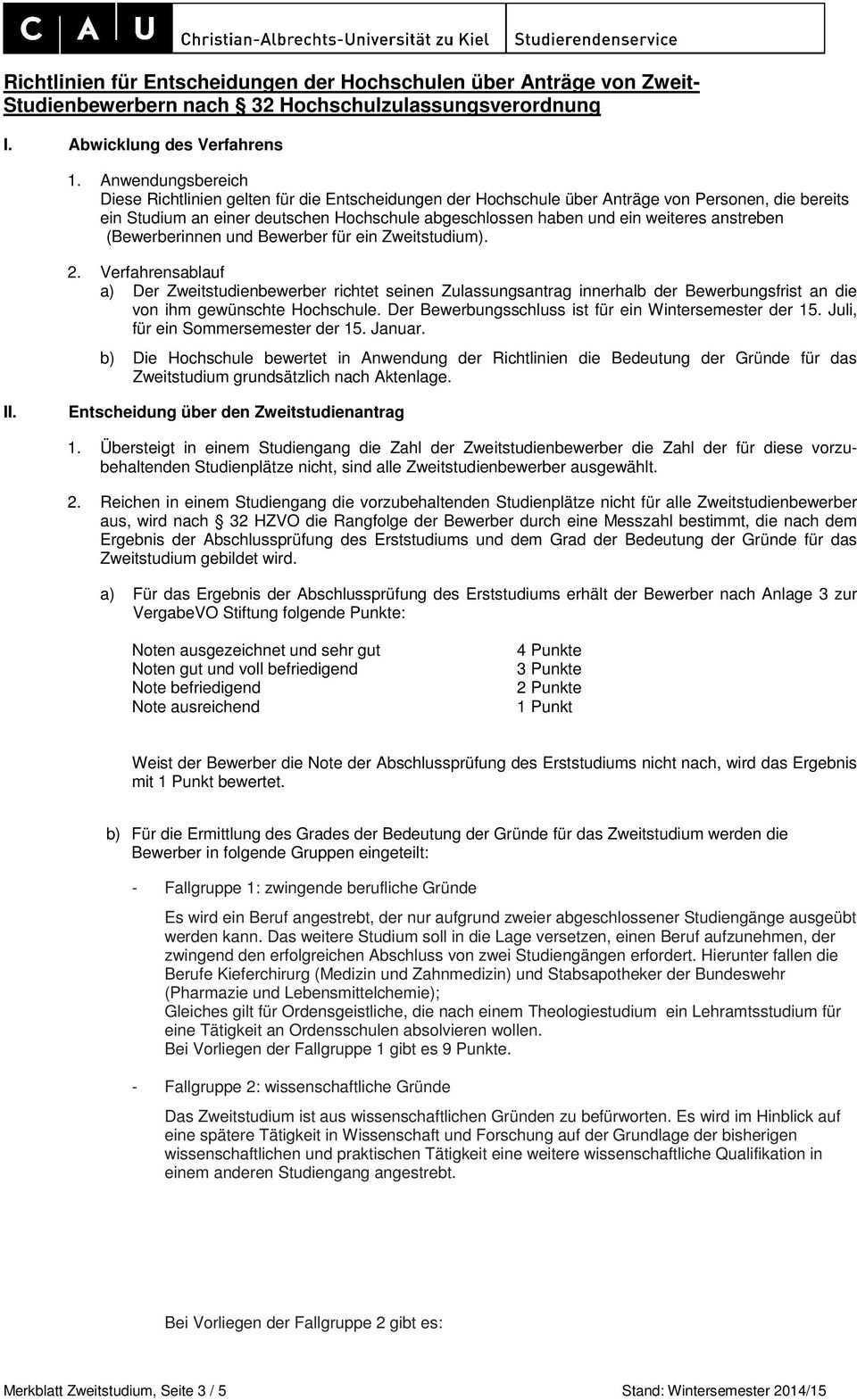 Merkblatt Bewerbung Fur Ein Zweitstudium Studienanfanger Innen Pdf Free Download