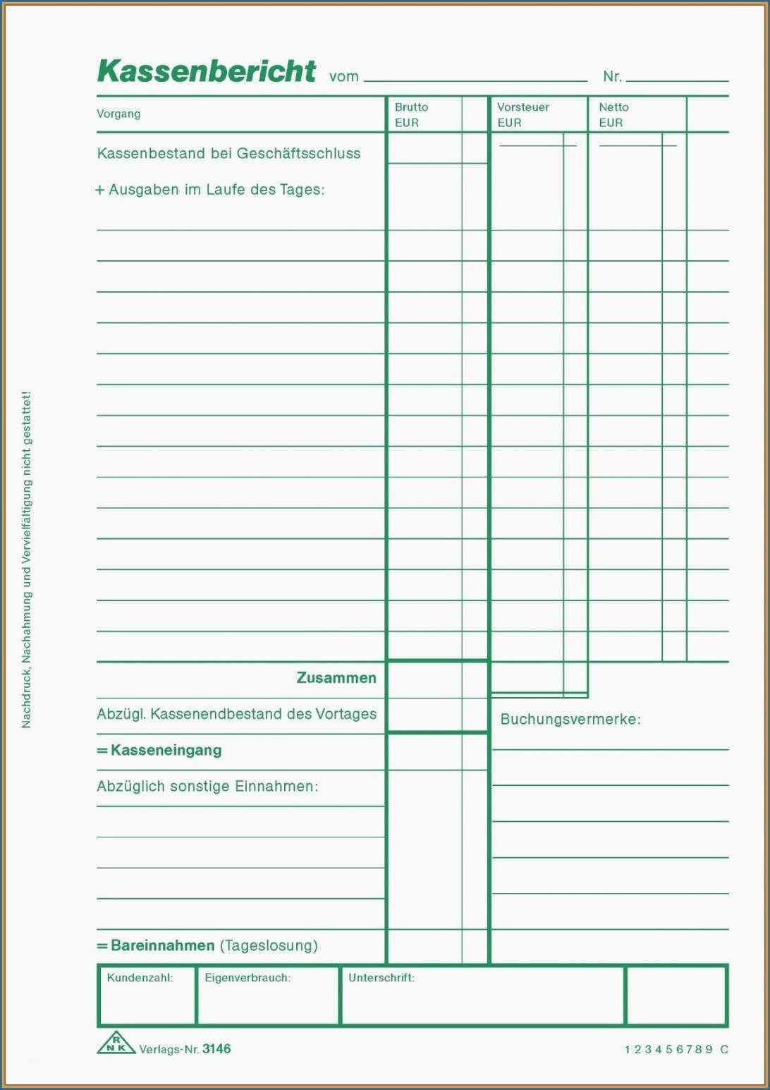 Befriedigend Kassenbericht Offene Ladenkasse Vorlage Vorlagen Empfehlungsschreiben Kassenbuch