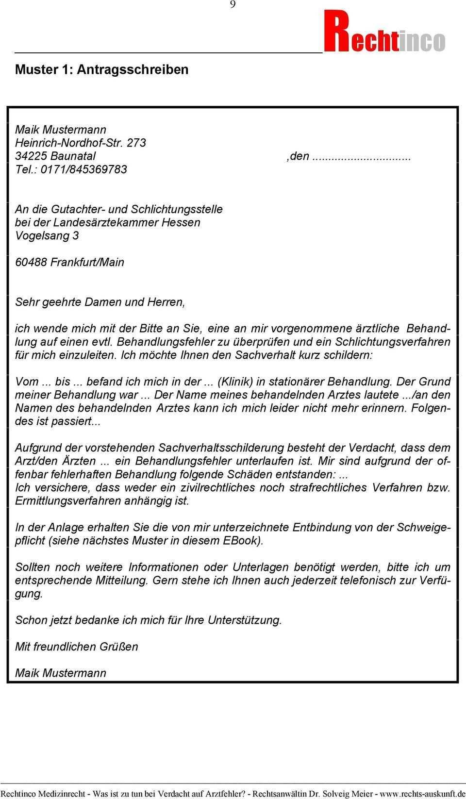 Rechtinco Medizinrecht Arzthaftungsrecht Was Ist Zu Tun Bei Verdacht Auf Arztfehler Pdf Kostenfreier Download