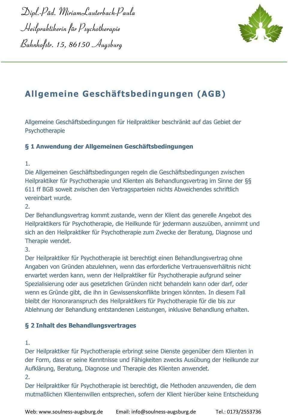 Dipl Pad Miriamlauterbach Paula Heilpraktikerin Fur Psychotherapie Bahnhofstr 15 Augsburg Pdf Kostenfreier Download